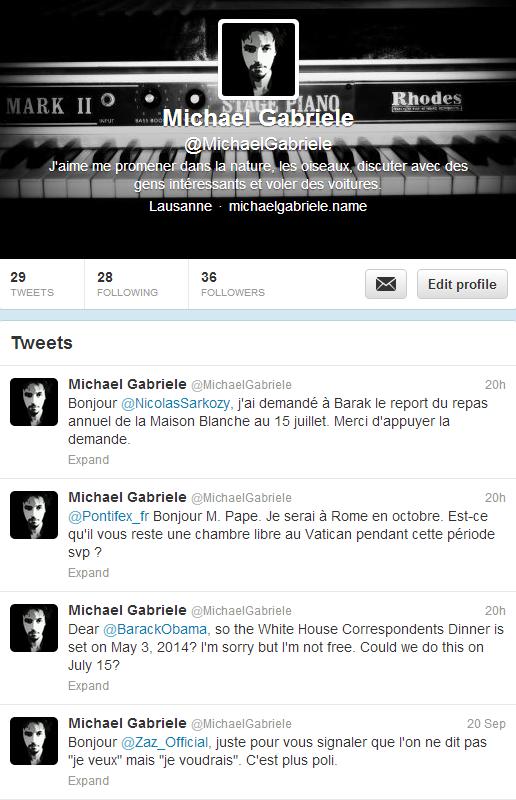 Twitter MichaelGabriele