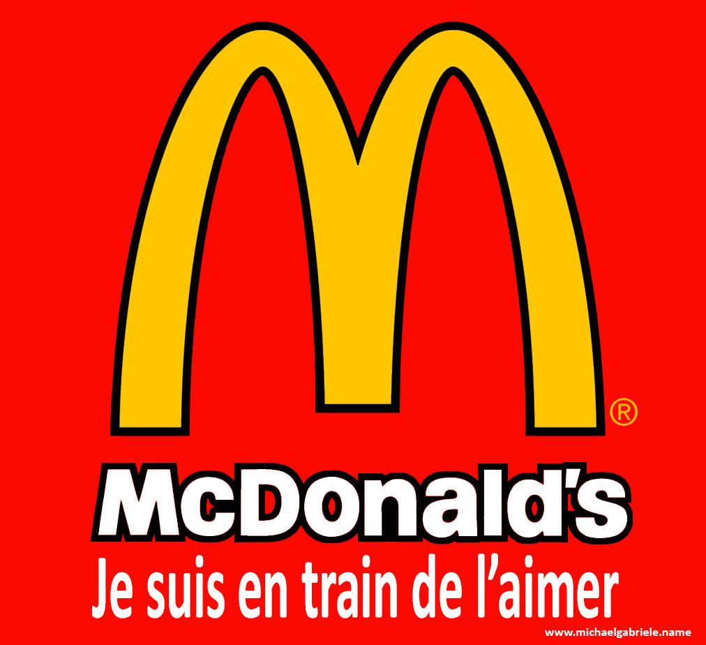"""Le célèbre """"I'm loving it"""" de McDonald's devient """"Je suis en train de l'aimer"""" pour respecter l'effet """"je fais le truc pendant que je te parle"""" typique du Present Continuous"""