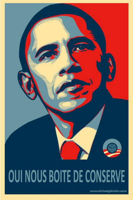 """L'hommage surprenant d'Obama à toutes les boîtes de conserve du monde avec son """"Yes We Can"""" devient """"Oui nous (sommes tous des) boîtes de conserve"""